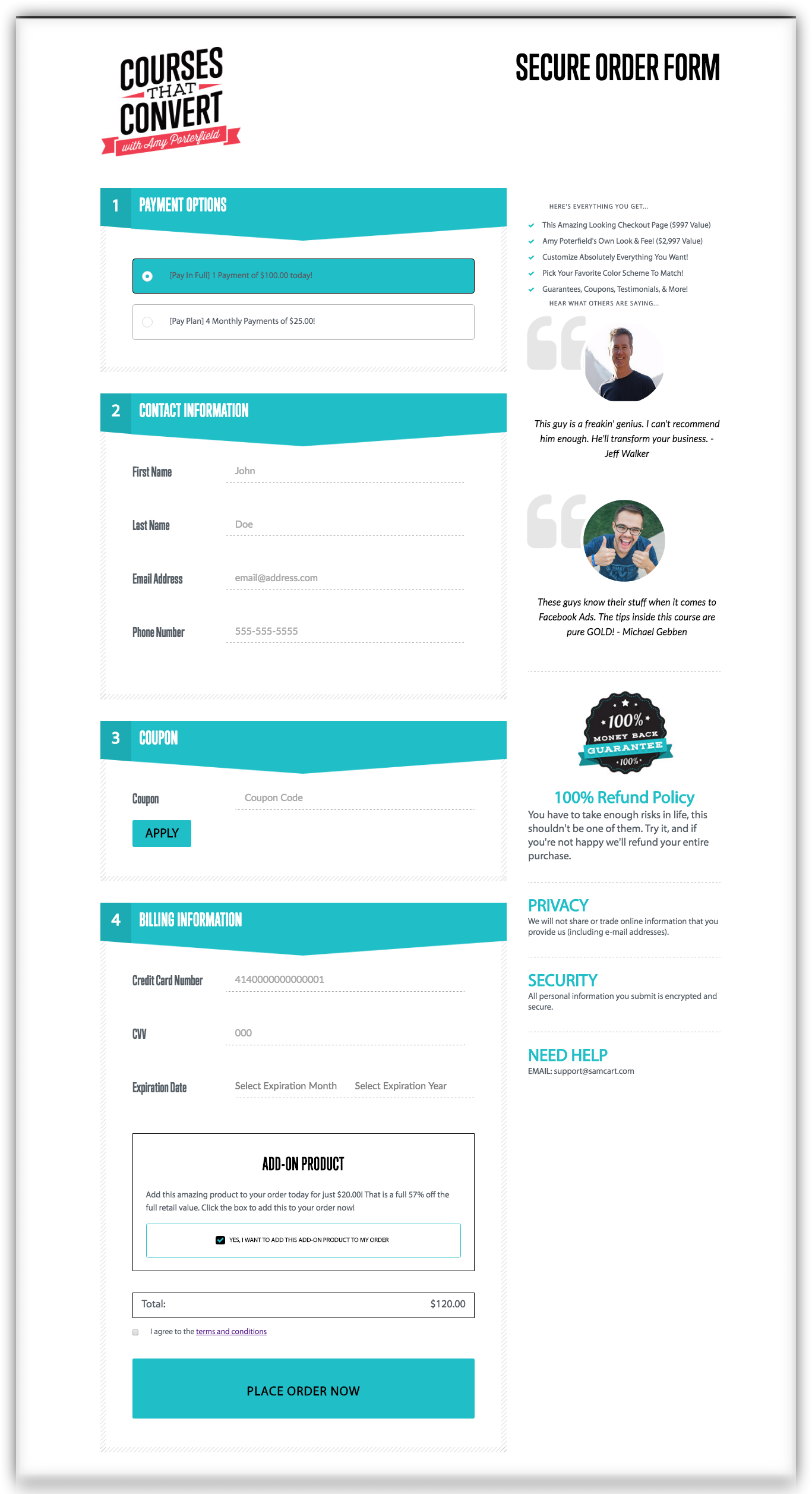 amy-porterfield-samcart-custom-checkout-page-template